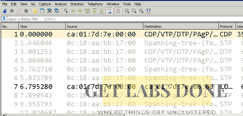 wireshark capture for ARP