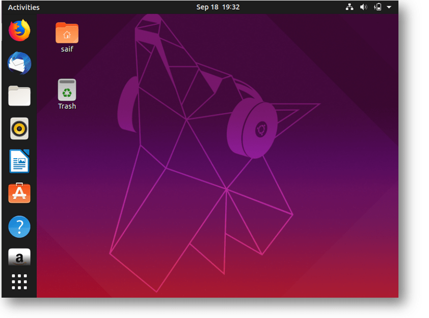 ubuntu vm dekstop in virtualbox