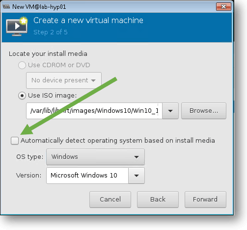 define the operating system as windows and version microsoft windows 10