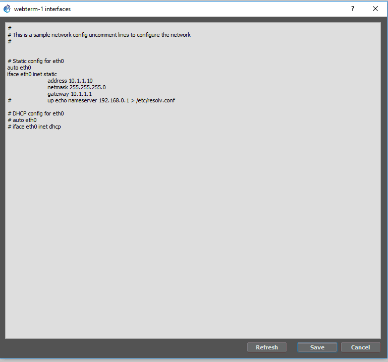 configure the end user machine to access the paloalto firewall gui in gns3