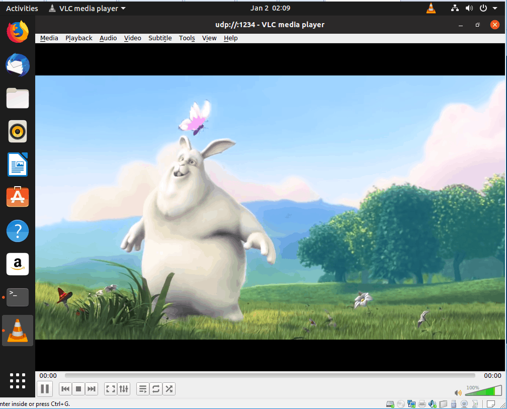 the VLC video started to play successfully now.