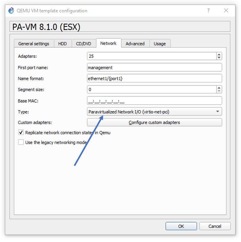 change the palo-alto interface type.
