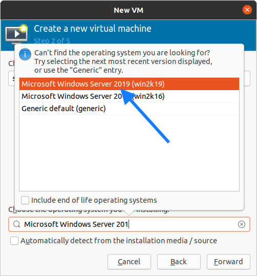 kvm install windows server 2019