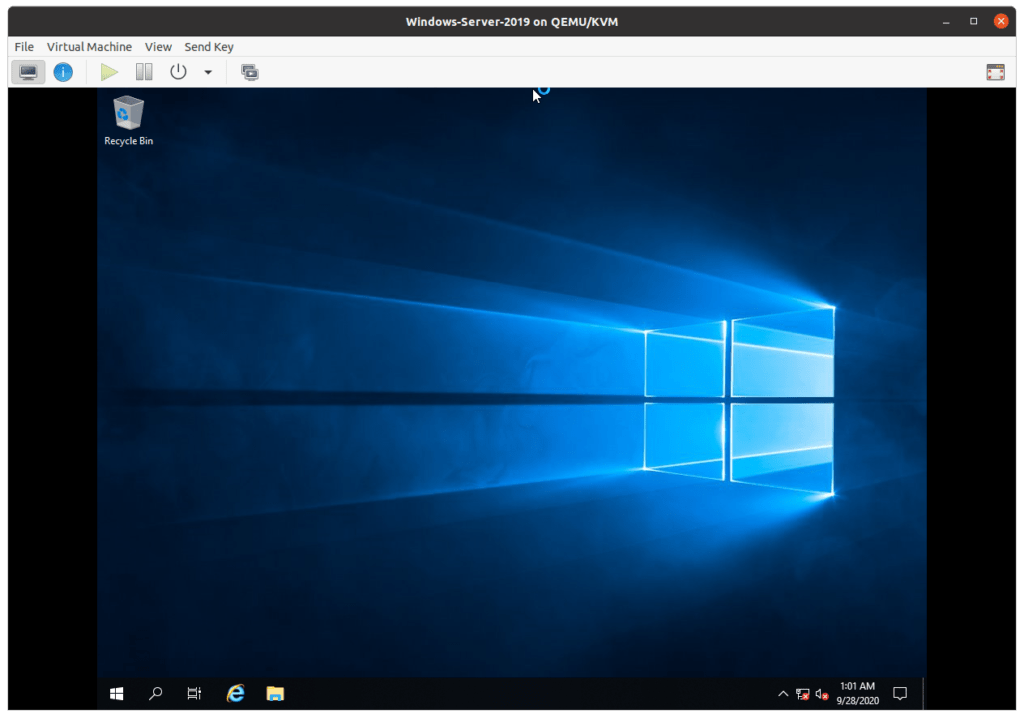 linux kvm windows server 2019