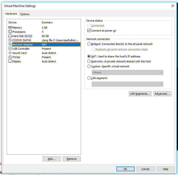 connect vm to the vpn
