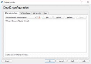 gns3 vm connect to real network