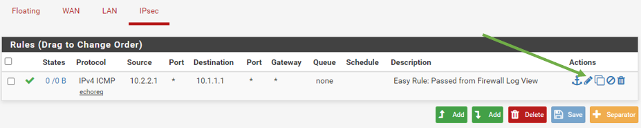 Pfsense allow ipsec traffic