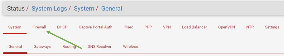 pfsense firewall configuration