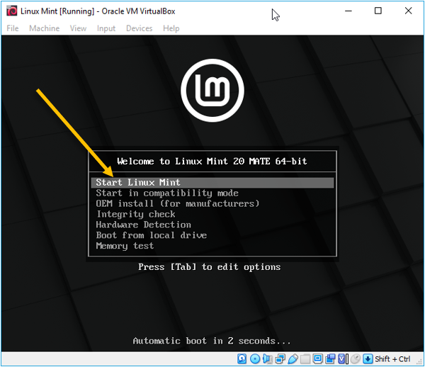 how to install linux mint on oracle virtualbox