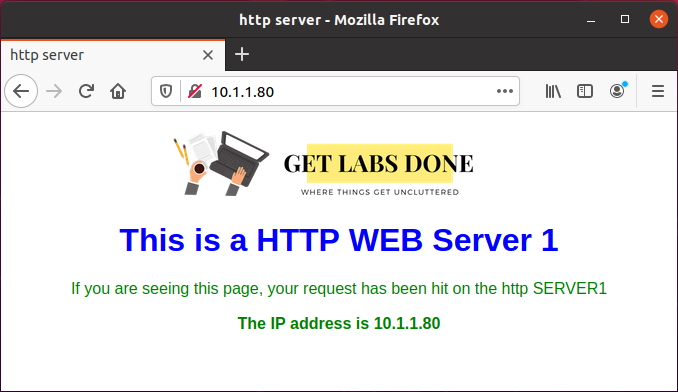 Verify the Port connectivity for http (80) traffic