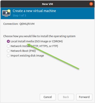 choose windows 11 iso in KVM