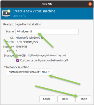 windows 11 customize configuration before install in KVM.