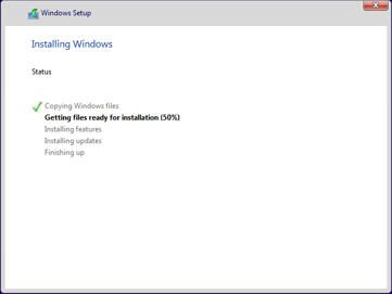 windows 11 installation progress in kvm.