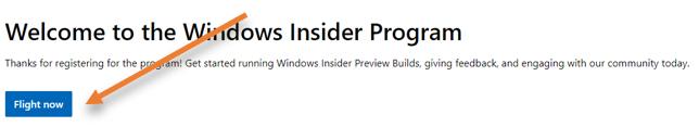 join the windows insider program