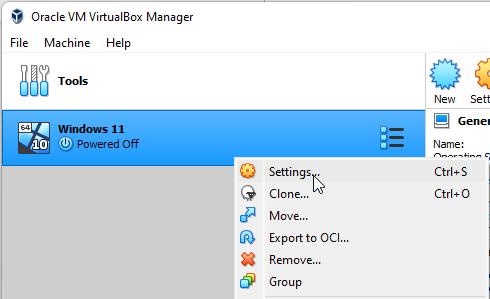 configure windows 11 cpu in virtualbox