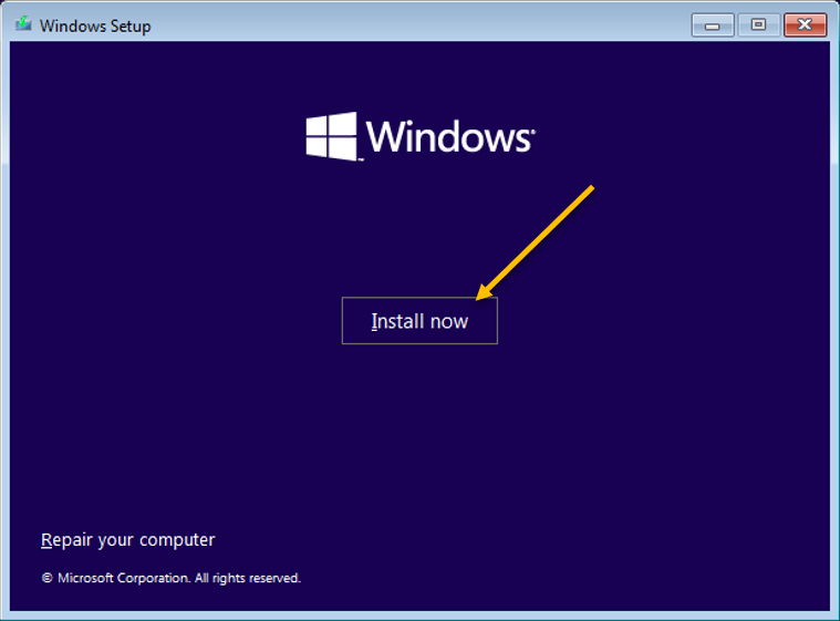 windows 11 installation in VirtualBox