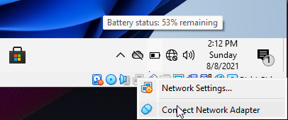 Connect VirtualBox windows11 back to the network.