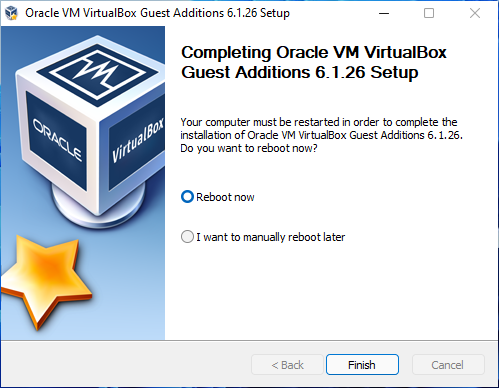 VirtualBox guest additions on windows 11 installation completed.