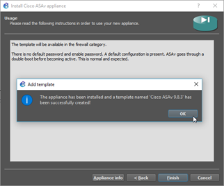 asa installed successfully in gns3