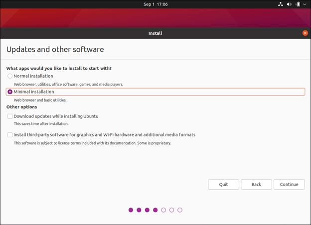 begin the ubuntu installation in hyper-v