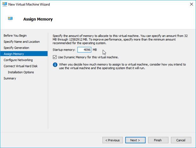 hyper-v ubuntu configure memory