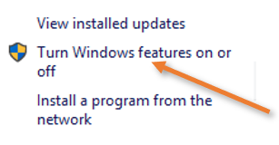 turn hyper-v features on or off