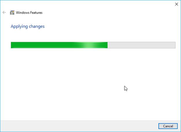 applying the hyper-v settings