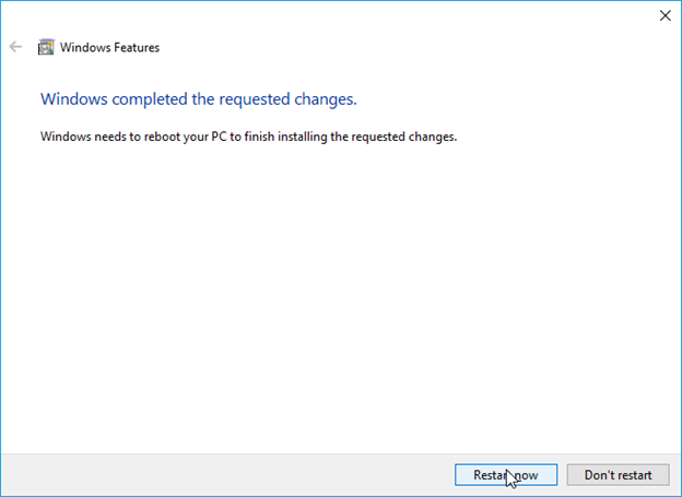 Completed the installation of hyper-v on your machine